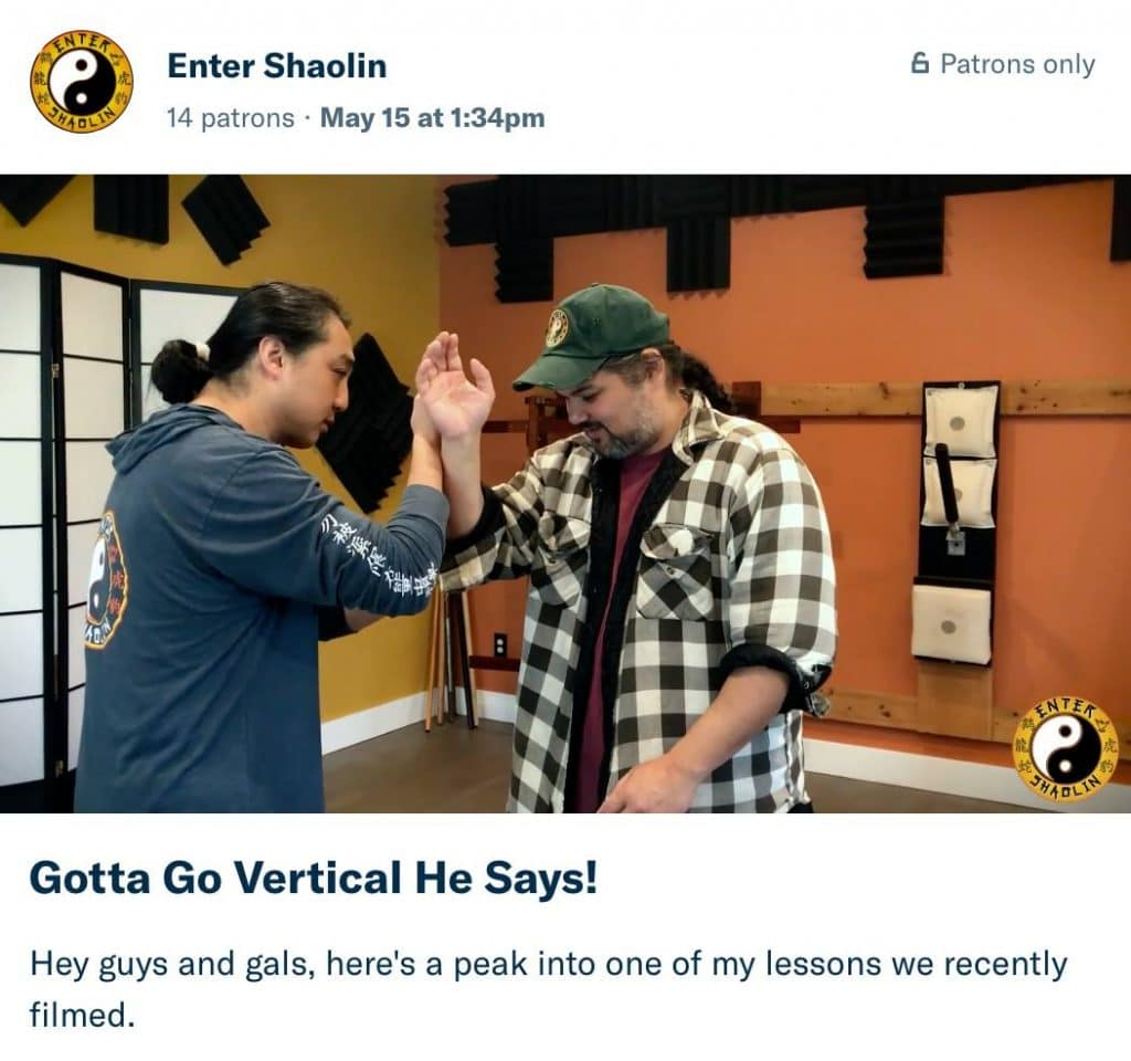 Enter Shaolin Patreon | Support Awesome Kung Fu Lessons Online